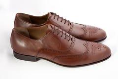 Mężczyzna ` s buty na białym tle Zdjęcie Royalty Free