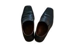 Mężczyzna ` s czerni buty w odosobnionym obraz stock