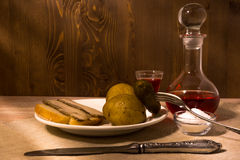 Mężczyzna ` s kolacja Obraz Stock