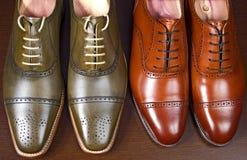 Mężczyzna ` s rzemienni buty fotografia royalty free