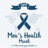 Mężczyzna ` s zdrowie miesiąc Obrazy Stock