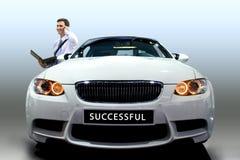 mężczyzna samochodowi potomstwa Zdjęcia Stock