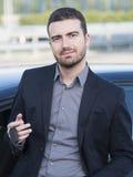 Mężczyzna samochodowy zakup Zdjęcia Royalty Free