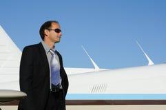 mężczyzna samolot zdjęcia stock