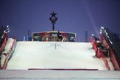 Mężczyzna skaczący w powietrzu Zdjęcie Royalty Free