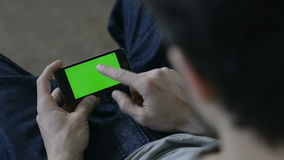 mężczyzna smartphone używać zdjęcie wideo
