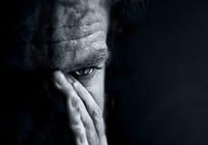 mężczyzna smutni Zdjęcia Royalty Free