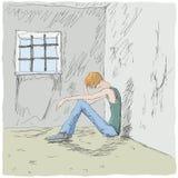 mężczyzna smutny Obraz Royalty Free