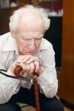 mężczyzna smutny stary Obrazy Royalty Free