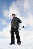 mężczyzna snowboard potomstwa Zdjęcia Stock