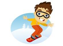 mężczyzna snowboarder potomstwa Fotografia Stock