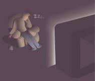 Mężczyzna spadać uśpiony Fotografia Stock
