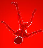 Mężczyzna spadki widzieć na promieniowaniach rentgenowskich Obrazy Stock
