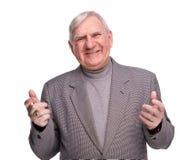 mężczyzna starszy radosny portret Fotografia Royalty Free