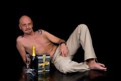 mężczyzna starzejący się środek zdjęcie royalty free