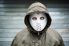mężczyzna straszny maskowy Zdjęcia Royalty Free