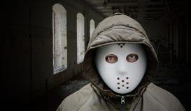 mężczyzna straszny maskowy Obraz Royalty Free