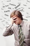 mężczyzna stres Obraz Royalty Free