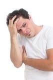 mężczyzna stresować się stresujący się Fotografia Stock