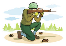 Mężczyzna strzelaniny pistolet Fotografia Stock