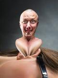 Mężczyzna stucks w ucho zdjęcie stock