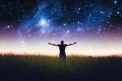 Mężczyzna sylwetka Elementy ten wizerunek meblujący NASA Zdjęcie Stock