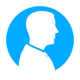 Mężczyzna sylwetki profilu widok Zdjęcie Stock