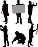 Mężczyzna sylwetki stojaki, Ilustracji