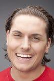 mężczyzna szczęśliwa czerwień Obraz Royalty Free