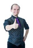 mężczyzna szczęśliwe aprobaty Fotografia Stock