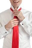 mężczyzna szczęśliwy krawat Obraz Stock