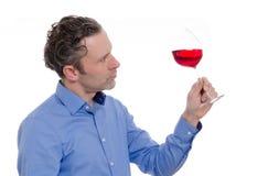 mężczyzna szklany wino Zdjęcie Stock
