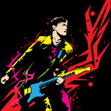 Mężczyzna sztuki gitara Obraz Royalty Free