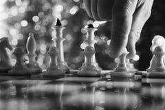 Mężczyzna sztuki szachy Obraz Stock