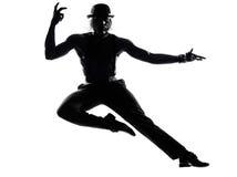 Mężczyzna tancerza dancingowa kabareta burleska obrazy stock