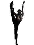 Mężczyzna tancerza dancingowa kabareta burleska fotografia royalty free