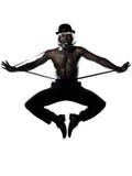 Mężczyzna tancerza dancingowa kabaretowa burleska obrazy stock