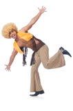 Mężczyzna taniec odizolowywający Zdjęcia Royalty Free