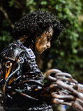 Mężczyzna target192_0_ jako żywa statua przy festiwalem Fotografia Stock