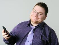 mężczyzna telefon komórkowy Obraz Royalty Free