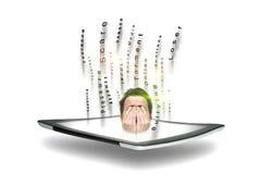 Mężczyzna temat cyber znęcać się Obrazy Royalty Free