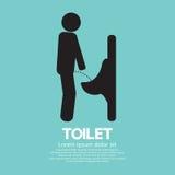Mężczyzna toalety znak royalty ilustracja
