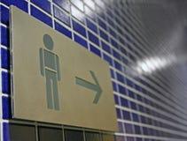 mężczyzna toalety znak Zdjęcie Royalty Free