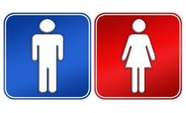mężczyzna toalety znaka kobieta Zdjęcia Royalty Free