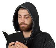 Mężczyzna Trzyma biblię zdjęcia stock