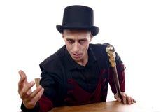 Mężczyzna ubierał up jako Dracula dla Halloween zdjęcia stock