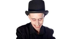 Mężczyzna ubierał up jako wampir dla Halloween zdjęcie royalty free