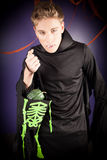 Mężczyzna ubierający dla Halloween zdjęcie stock