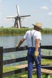 Mężczyzna ubierający jako rolnik Zdjęcia Royalty Free