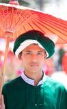 mężczyzna ubierający por tradycjonalnie Fotografia Stock